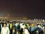 Large crowds at Mumbai's Chowpatty beach for Ganesh Visarjan in 2012