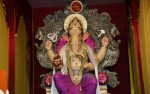 Mumbaicha Raja is the title of the famous Ganpati Statue in Ganesh Lane, Lalbaug