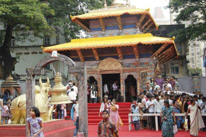 Beautiful Pandal in 2012 for Lalbaug's Ganesh Gali Ganpati - Mumbaicha Raja