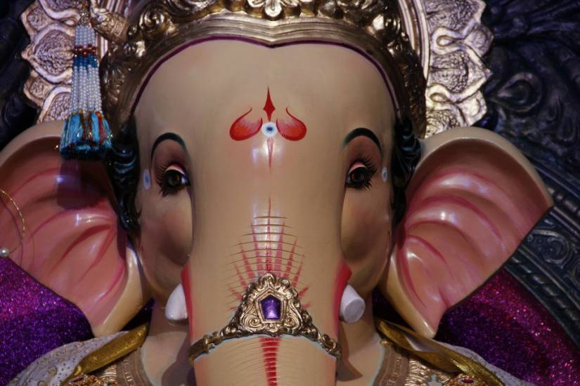 2012 Mumbaicha Raja is the Ganesh Galli Ganpati from Lalbaug. Very close to the world famous Lalbaugcha Raja