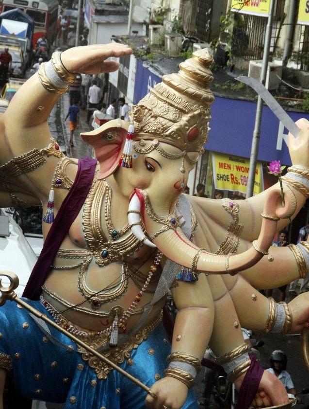 Aggressive, 10 hand Khetwadi 11th Galli Ganesh Statue. Among the best Mumbai Ganesh idols of 2012.