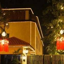 The Bachchan home called, Jalsa, is decorated for Diwali festival.