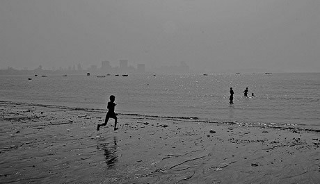 Sandy Chowpatty Beach is a major tourist attraction in Mumbai.