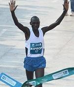 Jackson Kiprop, of Uganda, won the Mumbai Marathon 2013 in a new record time.