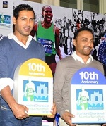 John Abraham is the Event Ambassador of the 2013 Mumbai Marathon.