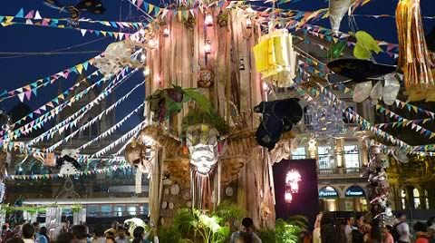 "The center piece of the Kala Ghoda Festival 2013 is ""Totems of Kapala The Tribe"" by Hindi movie Production Designer, Sukant Panigrahy."