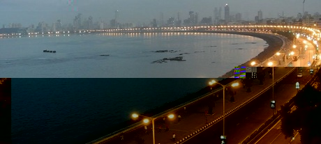 Marine Drive is one of the most popular tourist attractions in Mumbai.