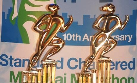 2013 Mumbai Marathon Winner's Trophy designed by Paresh Maity.