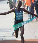 Valentina Kipketer is the Winner of the Mumbai Marathon 2013 Women Race. She created a new course record.