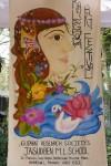 Art work by Jasudben School students at Kala Ghoda Festival 2013.