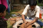 Clay pottery at Kala Ghoda Festival 2013, was very popular among children.