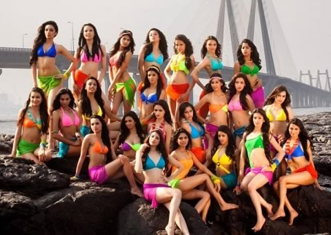Picture of Contestants at Femina Miss India 2013 Beauty Pageant.