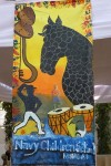 Art work by Navy School students at Kala Ghoda Festival 2013.