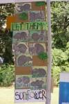 Art work made by 3 year old kids of Sunflower Nursery at 2013 Kala Ghoda Art Festival.