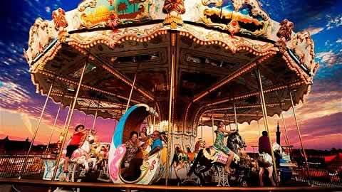 Carousel for kids at Adlab Magica Theme Park near Khopoli.