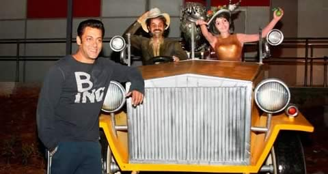 Salman Khan enjoying himself at Adlabs Imagica, India's biggest Entertainment Theme Park, between Mumbai and Pune.