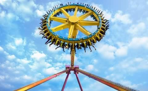 Scream Machine at Adlabs Imagica (near Khalapur) is one of the most popular rides at the Indian Theme Park