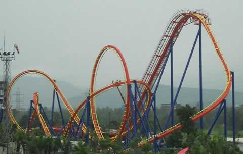 Nitro at Adlabs Imagica is India's (and Asia's) largest Roller Coaster.