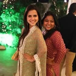 Picture of Paloma Rao in a Salwar Kameez. Rochelle Rao's sister is a Chennai based Radio/TV presenter, actress and model.