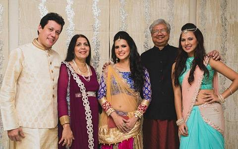 Rochelle Rao with her Parents, Sister and Brother.