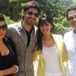 IPL 6 Sony TV show anchors, Rochelle Rao, Karishma Kotak, Gaurav Kapur and Samir Kochhar.