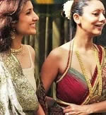 Is Namita Chhibber the surrogate mother of AbRam, SRK's son? Picture of Namita Chhibber with sister-in-law Gauri Khan.