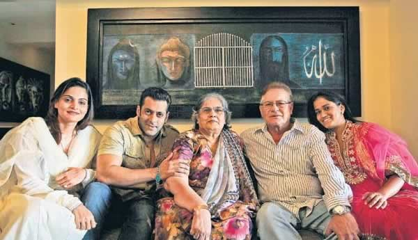 Salman Khan And Family Inside Their Galaxy Apartment House. Painting On The  Wall Is Done ...
