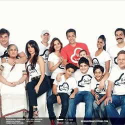 Salman Khan's entire Family (mother, father, stepmother, nephews, niece, brothers, sisters).