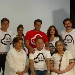 Salman Khan with sisters, brothers, mother, father and stepmother.