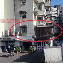 Salman Khan & Salim Khan's first floor House at Galaxy Apartments at Bandstand, Bandra (W).