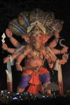 2013 Chandanwadi Ganesh has Sheshnag (5 Snakes) on his head.