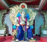 Mandap of Mumbai's famous Chinchpokli Cha Chintamani Ganesh Mandal.