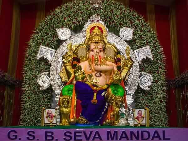 GSB Seva Ganpati Idol's arms are covered in Gold. Insured for Rs 223.35 crore.