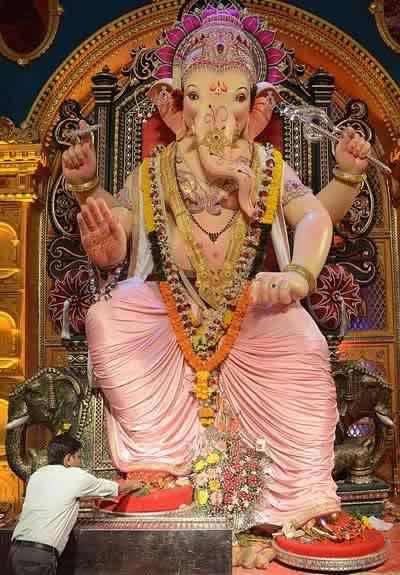 "Ganpati Idol of Khetwadi Gali 12 is called ""Khetwadi Cha Ganraj""."