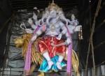 """Khetwadi's famous 5 head """"Vignaharta"""" Ganpati sits on a Lion."""