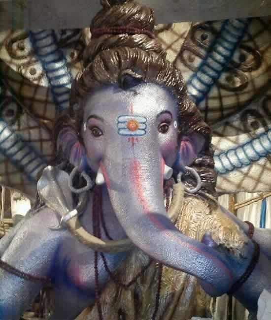 """Khetwadi Cha Raja"" is the Ganpati Idol at Khambata Lane, Khetwadi"