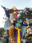 Panchsheel Seva Mandal's Ganesh is on a Blue Peacock. Among Mumbai's best Idols.