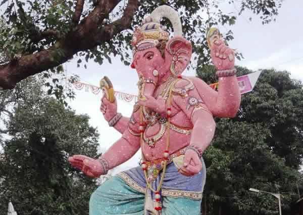 Tulsiwadi Cha Maharaja (Tardeo) Ganesh Idol for Ganesh Chaturthi.