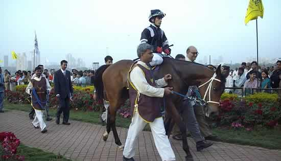 Horse Racing at Mumbai's Mahalaxmi Race Course.