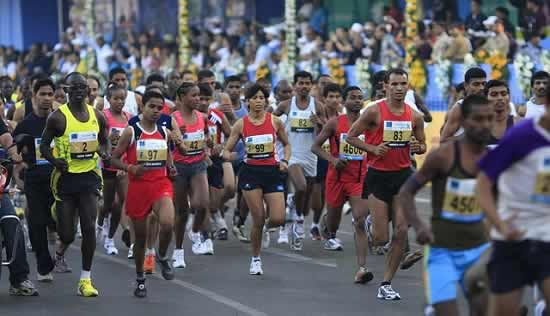 Mumbai Marathon takes place in January from VT (CST) to Bandra-Worli Sea Link.