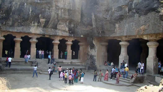 Elephanta Caves is an UNESCO World Heritage Site near Mumbai.