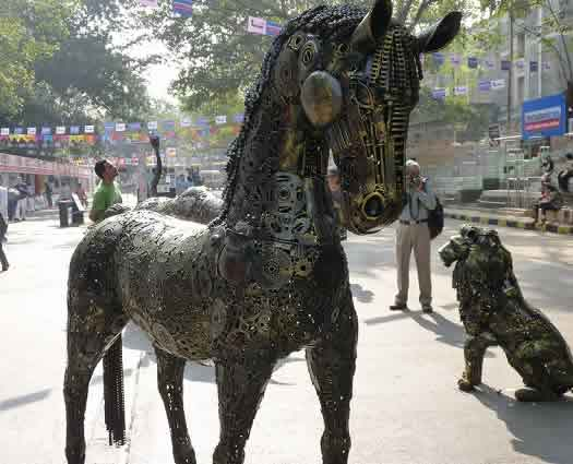 Black Horse at Kala Ghoda Arts Festival 2014 is by Ilyas Ahmed.