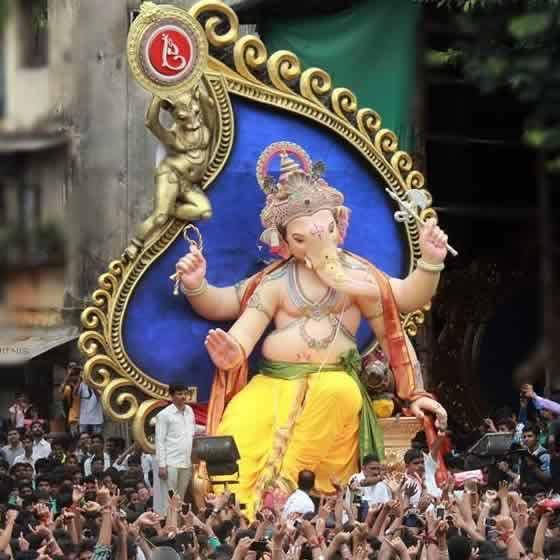 """Photo of the 2014 """"Chinchpokli Cha Chintamani"""" Ganesh Idol"""