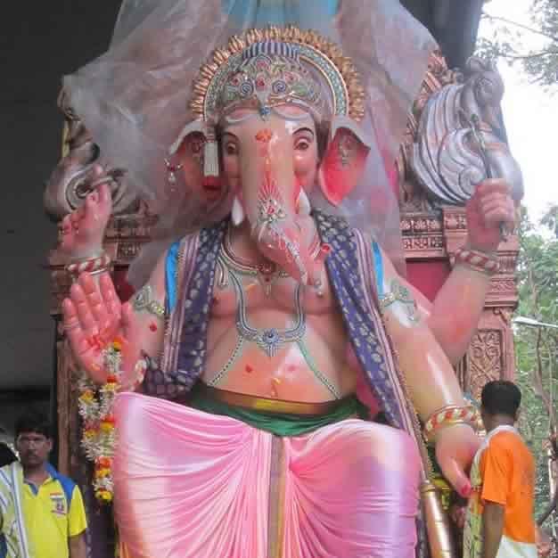 "Photo of the 2014 ""Dongricha Raja"" Ganpati at Chinch Bunder"