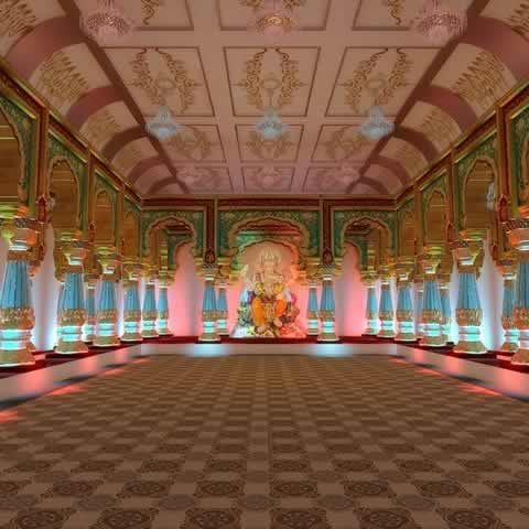 Andhericha Raja Pandal (Set) is replica of Mysore Palace