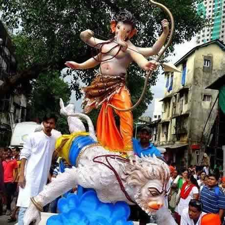 2014 Andheri Telli Gali Cha Samrat is Ganpati On Hanuman