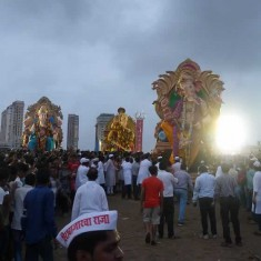 Photo of Ganpati Visarjan of Big Ganesh Idols in Mumbai
