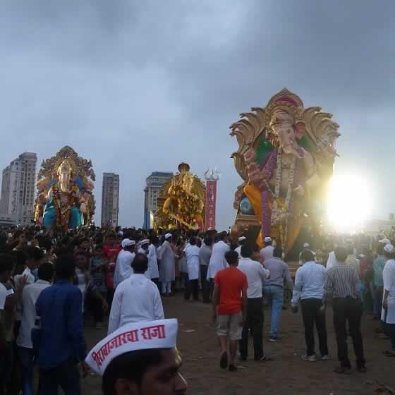 Photo of Ganpati Visarjan of Big Ganesh Idols in Mumbai