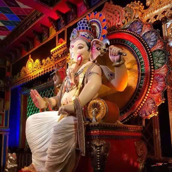 "Khetwadi Lane 12 ""Khetwadicha Ganraj"" is a famous Ganpati Mandal"