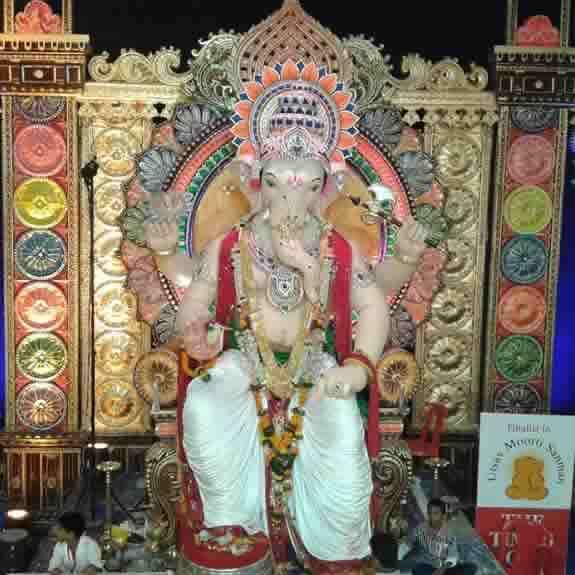 Khetwadi Cha Ganraj at Khetwadi Galli 12 is a famous Ganesh Mandal